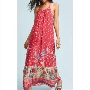 Anthropologie Floreat Juniper Maxi Dress
